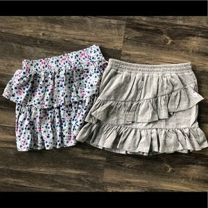 Two ruffle skirts